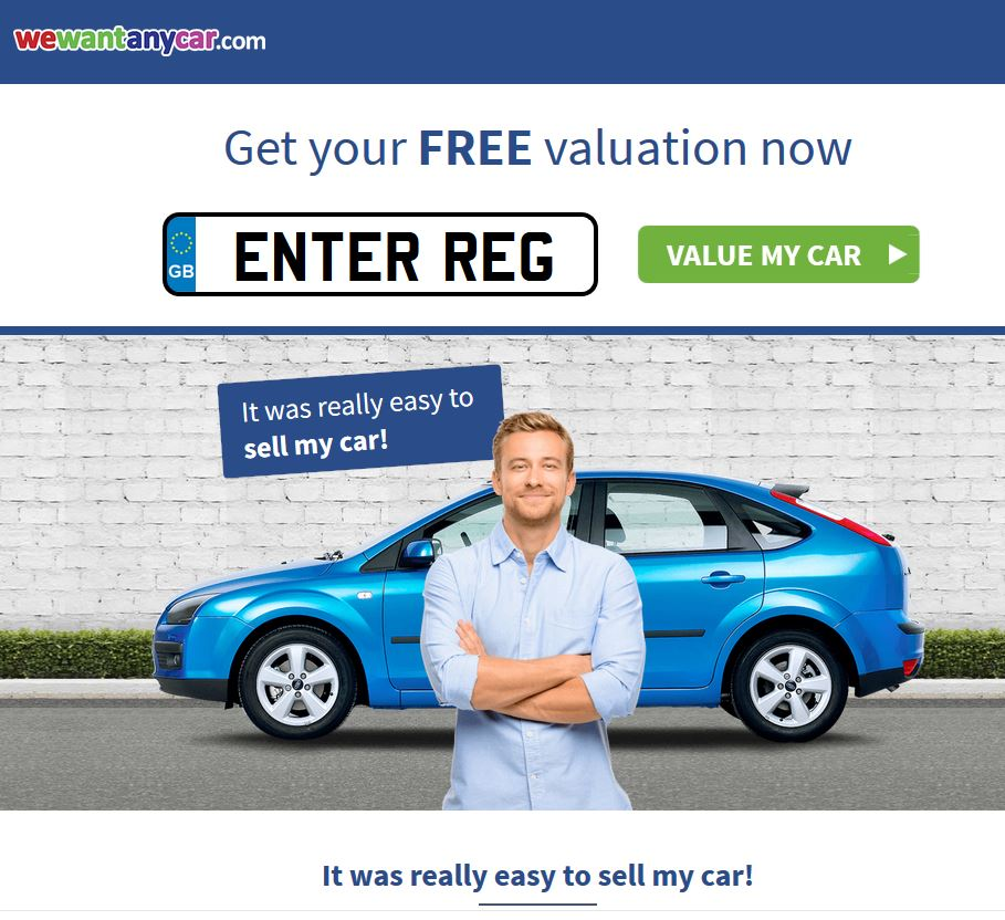 FREE valuation - car buying service from WeWantAnyCar.com